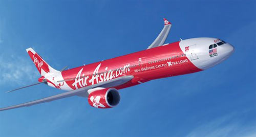 Airbus A330neo in colours of AirAsiaX
