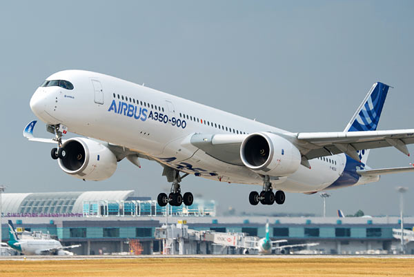 Airbus A350 test aircraft