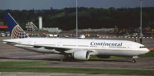 Boeing 777 Continental Airlines